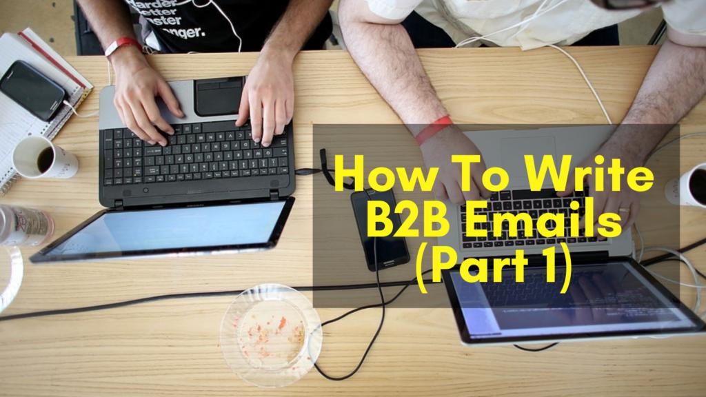 Write B2B Emails